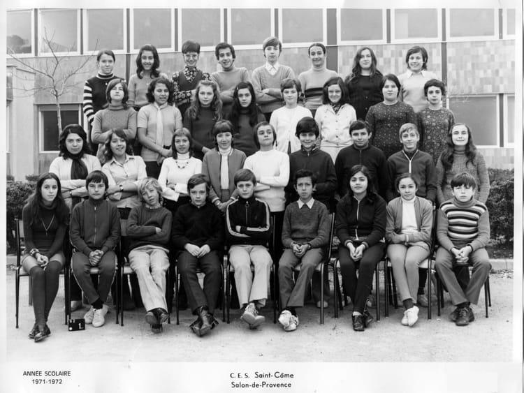 Photo de classe 5 me ii de 1972 saint come copains d 39 avant - Ste salon de provence ...