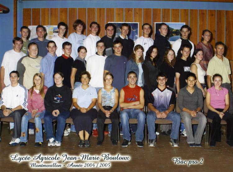 Photo de classe bac pro de 2004 lpa jean marie bouloux for Programme bac pro cuisine