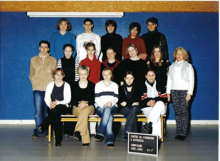 Photo de classe 1 re ann e cap coiffure de 2002 cfa de la chambre de m tiers de l 39 oise annexe - Chambre des metiers nogent sur oise ...
