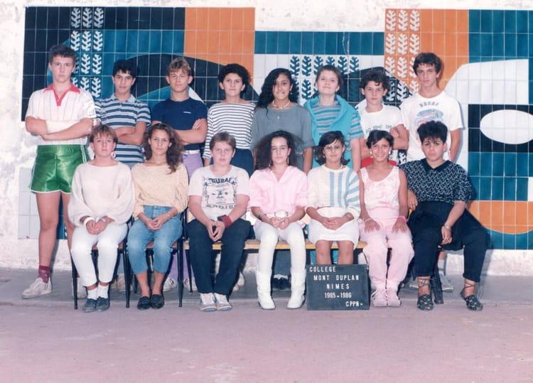 photo de classe cppn de 1985 coll 232 ge mont duplan