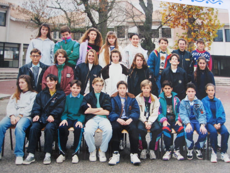 photo de classe 4 176 4 de 1992 coll 232 ge porte du m 233 doc copains d avant