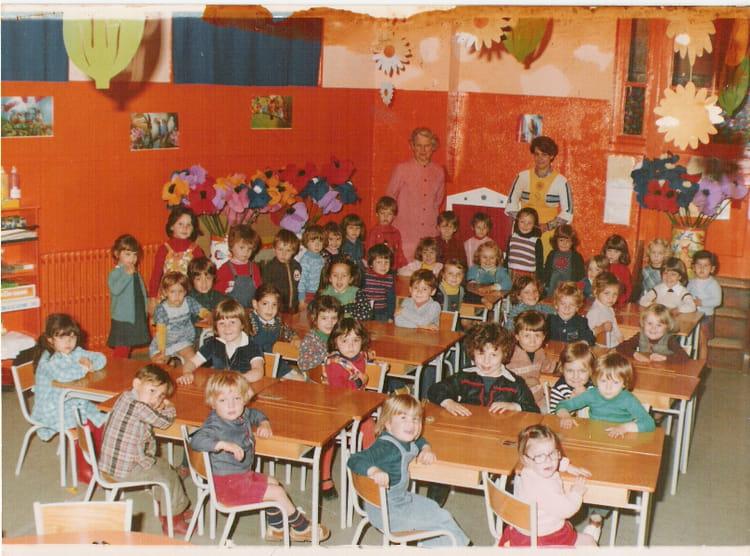 Photo de classe grande section de maternelle de 1978 - Lycee craponne salon ...