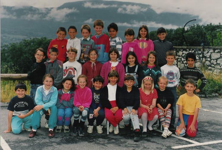 photo de classe ce2 cm1 de 1993 ecole chambery le vieux