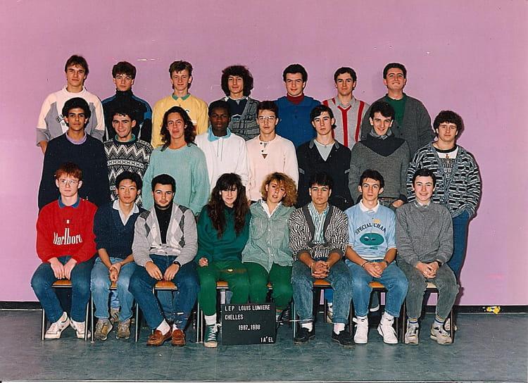 photo de classe 1a el de 1987 lyc 233 e professionnel louis lumi 232 re copains d avant