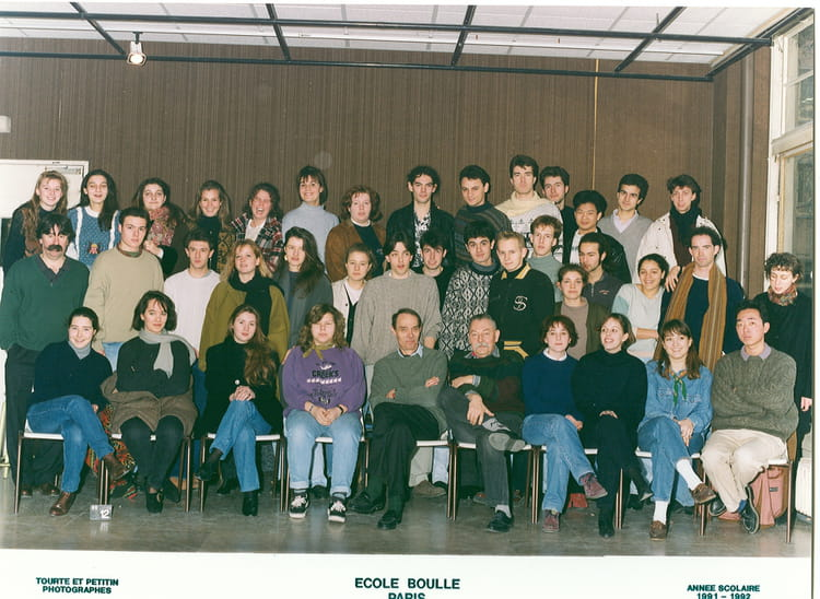 photo de classe 1 re ann e bts architecture int rieure de 1992 ecole boulle copains d 39 avant. Black Bedroom Furniture Sets. Home Design Ideas