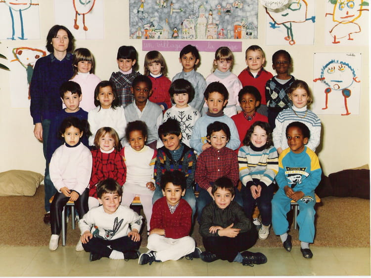 photo de classe grande section maternelle de 1987 ecole andr lur at copains d 39 avant. Black Bedroom Furniture Sets. Home Design Ideas