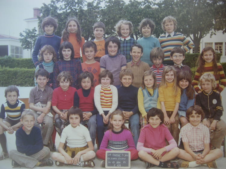 Photo de classe cm1 de 1974 ecole leonce gluard la roche - Cours cuisine la roche sur yon ...