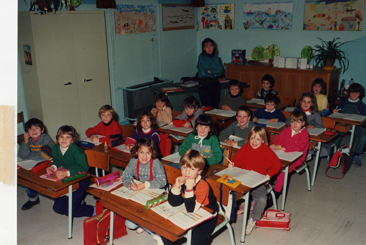 photo de classe cp de 1986 ecole calcomier rodez copains d 39 avant. Black Bedroom Furniture Sets. Home Design Ideas