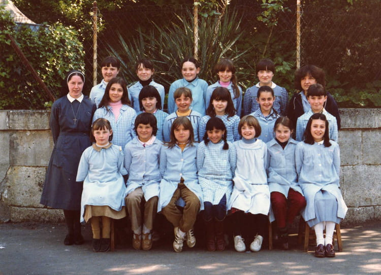 photo de classe cm1 8 me bleue de 1980 ecole primaire sainte marthe saint jean copains d 39 avant. Black Bedroom Furniture Sets. Home Design Ideas