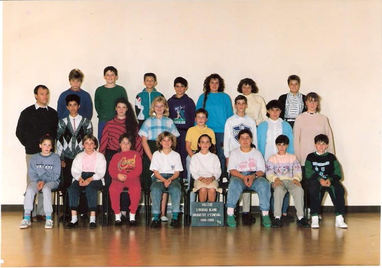photo de classe 5 me5 ann e 88 89 de 1988 coll ge l 39 oiseau blanc copains d 39 avant. Black Bedroom Furniture Sets. Home Design Ideas