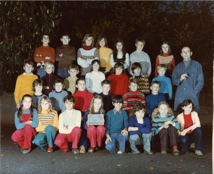 Photo de classe 6 u00e9me 2 de 1975, Coll u00e8ge Alfred Kastler   Copains d u0026#39;avant