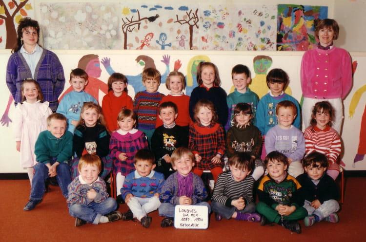 photo de classe ecole maternelle longues sur mer 1989