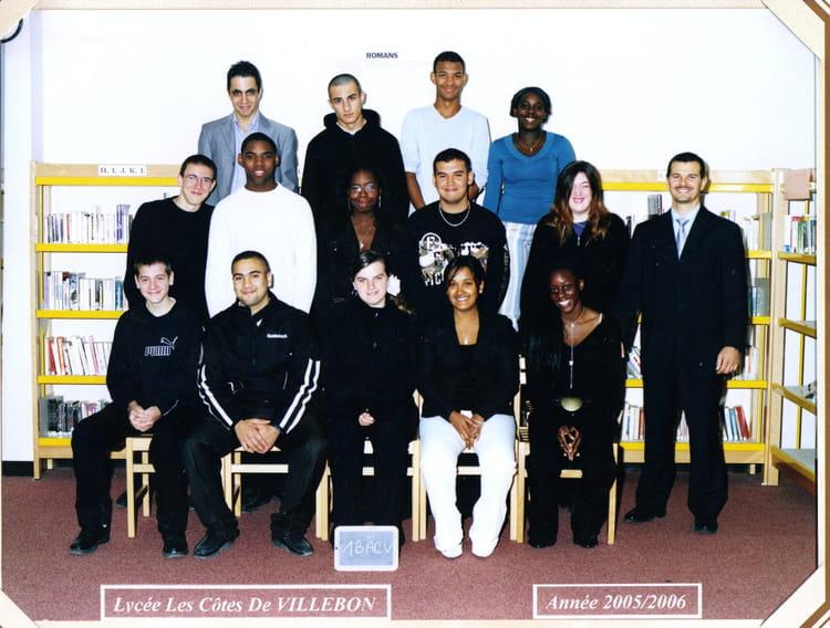 Cote De Villebon photo de classe 1 bac v de 2005, lycées les cotes de villebon