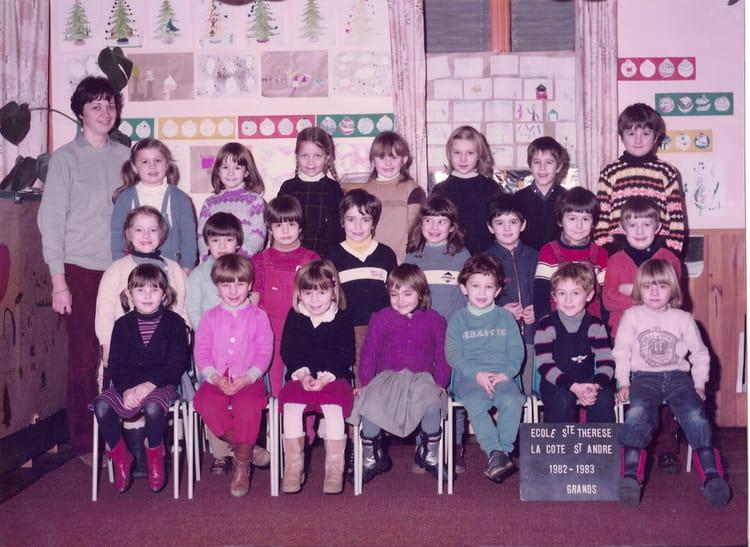 photo de classe grande section maternelle de 1982 ecole sainte therese la cote saint andre. Black Bedroom Furniture Sets. Home Design Ideas