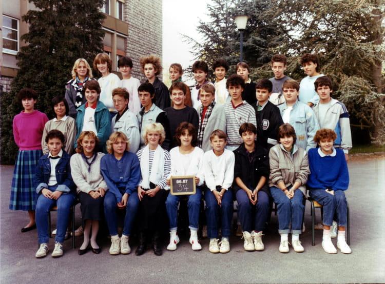Photo de classe 3eme 4 de 1987 coll ge vieux port copains d 39 avant - College vieux port marseille ...