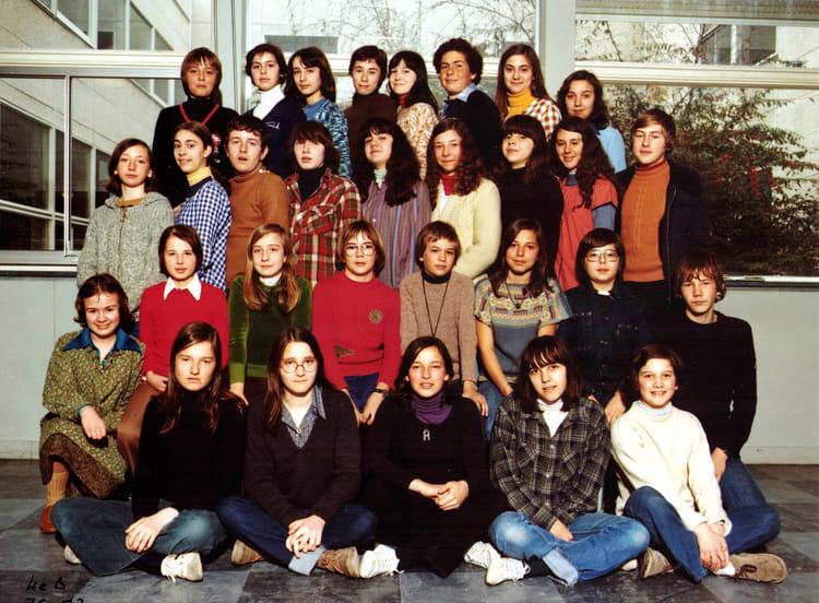 photo de classe 4eme b de 1976  coll u00e8ge c u00e9sar franck