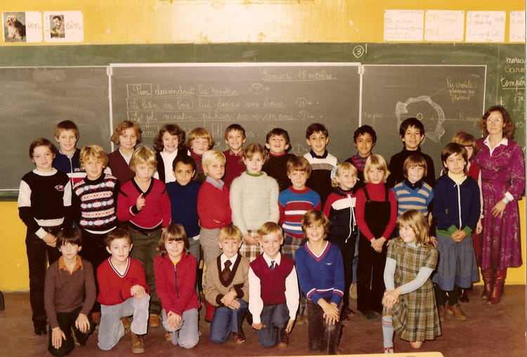 photo de classe ce2 la madeleine 1980 1981 de 1980 ecole kleber copains d 39 avant. Black Bedroom Furniture Sets. Home Design Ideas