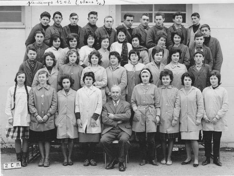 Photo de classe 2e cm de 1962 lyc e de saint marc for Salon o d ange saint georges des gardes