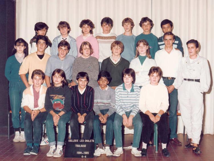 photo de classe les chalets 4 176 4 de 1984 coll 232 ge les chalets copains d avant