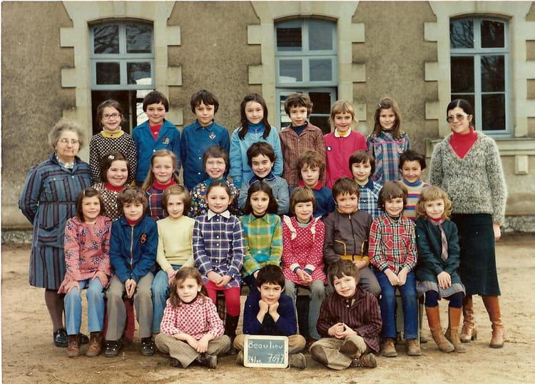 photo de classe ecole louis beaulieu sur layon de 1976 ecole louis beaulieu sur