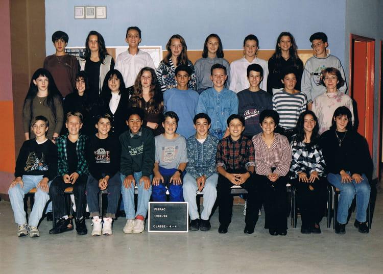 Photo de classe 4ème 4 de 1993, Collège Du Bois De La  ~ Ent Bois De La Barthe