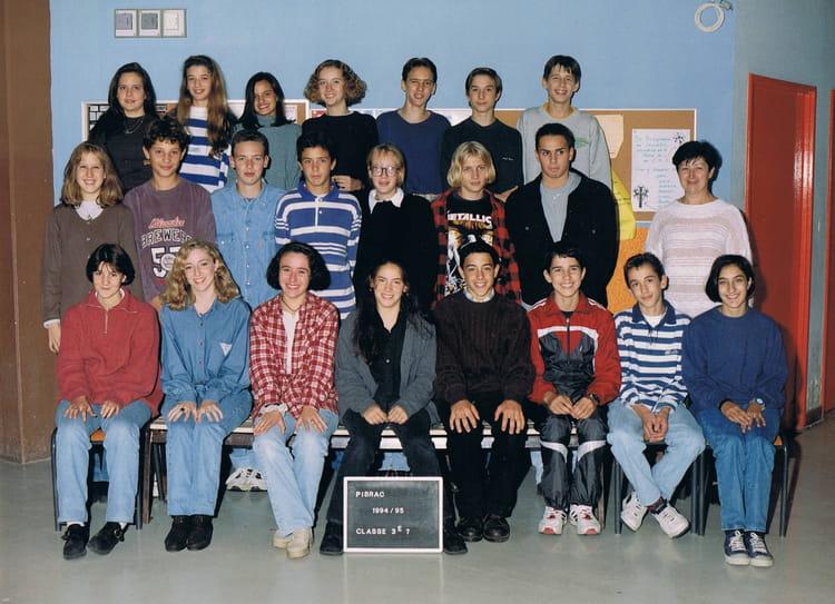 Photo de classe 3ème 7 de 1994, Collège Du Bois De La  ~ Ent Bois De La Barthe
