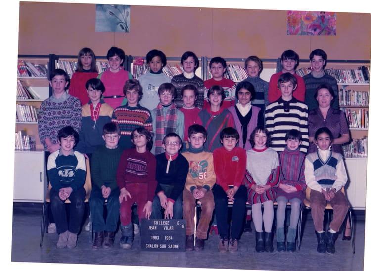 photo de classe classe de 6eme6 de 1984 coll ge jean vilar copains d 39 avant. Black Bedroom Furniture Sets. Home Design Ideas