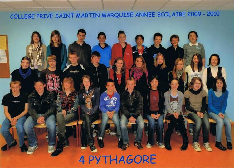 photo de classe 4 232 pythagore de 2010 coll 232 ge martin copains d avant