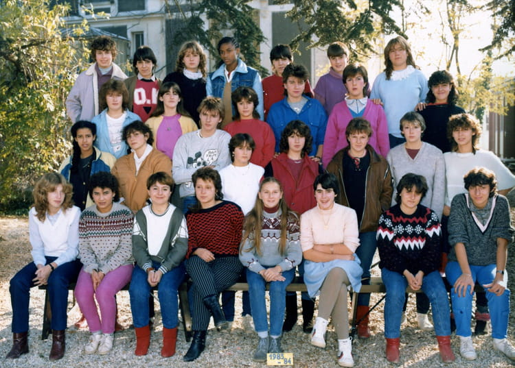 Photo de classe 2eme annee cap employe de bureau de 1983 for Bureau lyceen
