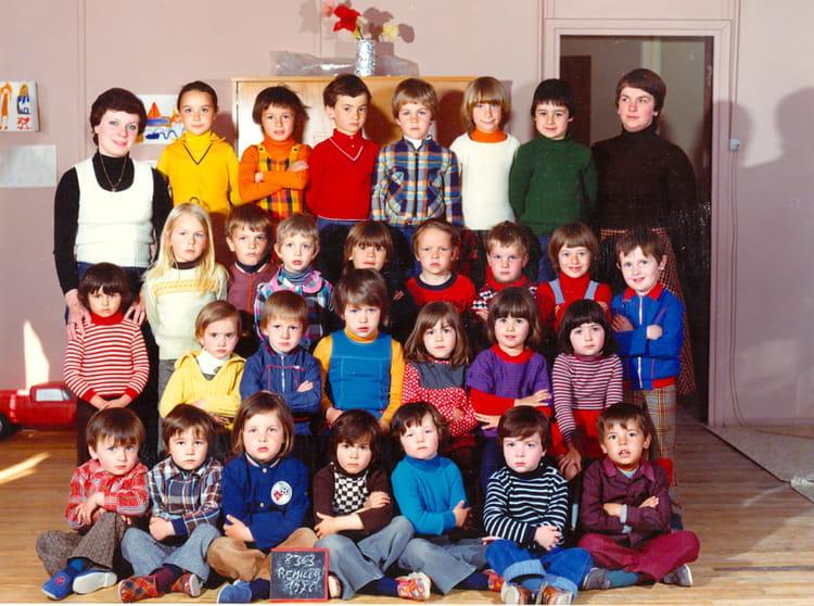 Photo de classe ecole maternelle de 1976 ecole for Remilly sur tille