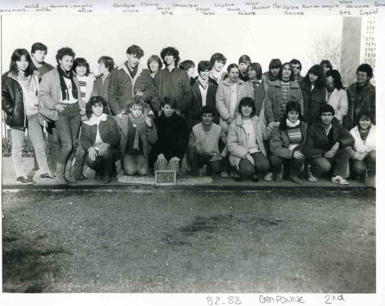 Photo de classe 2 6 de 1982 lyc e professionnel - Lycee craponne salon ...