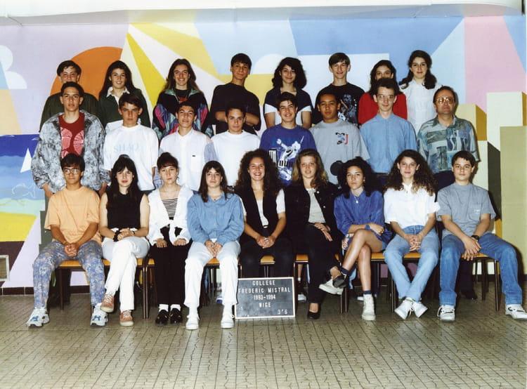 Photo de classe college frederic mistral 3 me 6 1993 1994 de 1993 coll ge fr deric mistral - College frederic mistral port de bouc ...