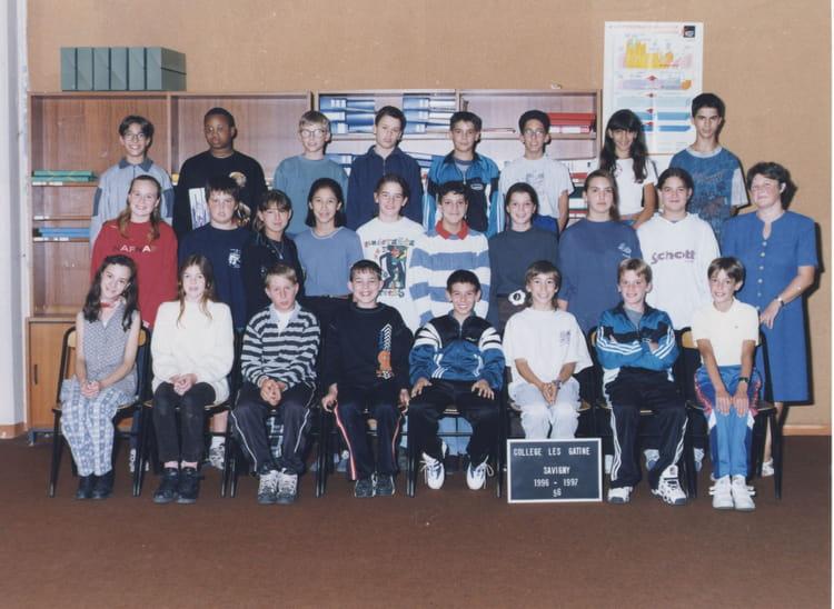 Photo de classe 5ème6 de 1997, Collège Les Gâtines - René