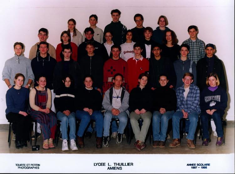 photo de classe 1 re s de 1998 lyc e louis thuillier copains d 39 avant. Black Bedroom Furniture Sets. Home Design Ideas
