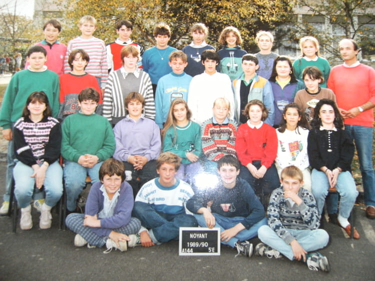 photo de classe 5 232 e de 1990 coll 232 ge porte d anjou copains d avant