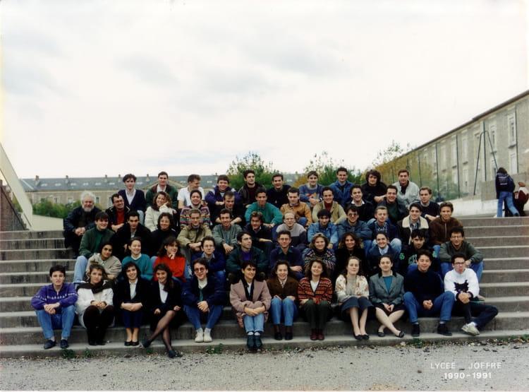 photo de classe 1990-1991 - math sp u00e9 m2