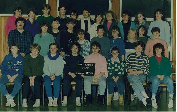 Photo de classe Cool le BEP de 1987, Coll u00e8ge Alfred Kastler   Copains d u0026#39;avant