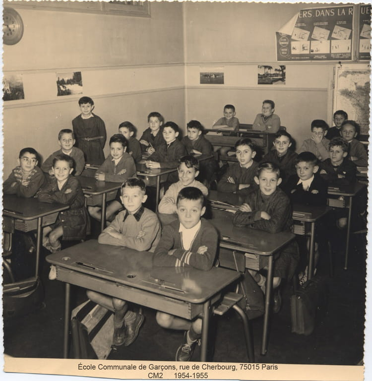Photo de classe cm2 de 1955 ecole de cherbourg copains Cours de cuisine cherbourg