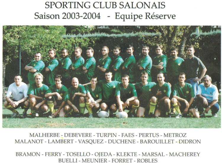 photo de classe la r serve de 2003 sporting club salonais ForSporting Club Salonais