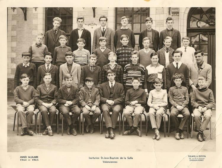 photo de classe institution jean baptiste valenciennes de 1964 coll 232 ge jean