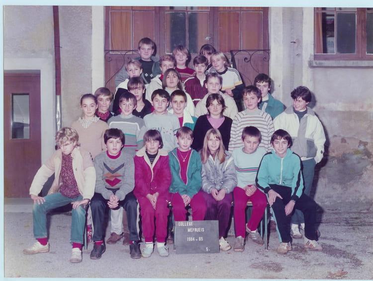 photo de classe 5e de 1984 coll ge andr chamson copains d 39 avant. Black Bedroom Furniture Sets. Home Design Ideas