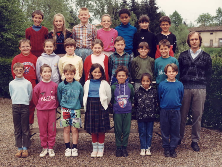Photo de classe ce2 1988 1989 de 1988 ecole primaire for Haute rivoire