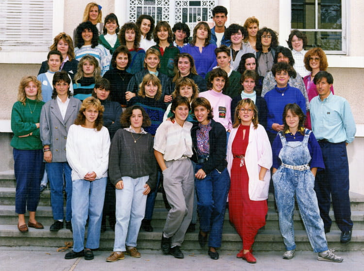 Photo de classe 1 re f8 de 1988 lyc e saint jean - Lycee viala lacoste salon de provence ...