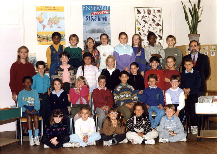 photo de classe cm2 de 1991 ecole du plateau du moulin copains d 39 avant. Black Bedroom Furniture Sets. Home Design Ideas