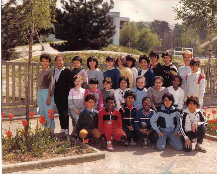 photo de classe cm2 en 1984 de 1984 ecole louis pergaud sainte genevieve des bois copains d. Black Bedroom Furniture Sets. Home Design Ideas