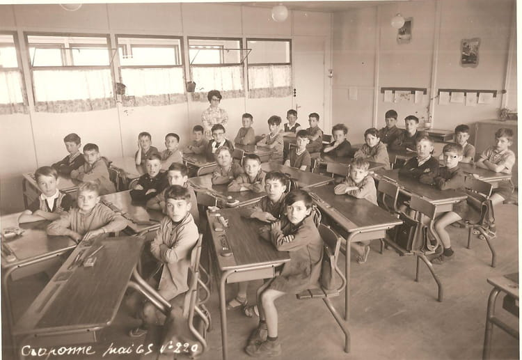 Photo de classe cm1 de 1965 ecole du centre craponne - Lycee craponne salon ...