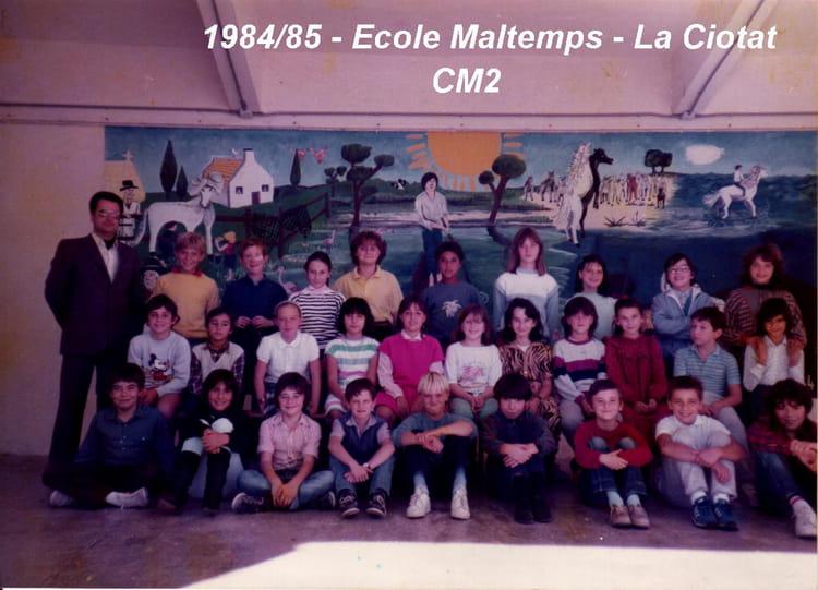 photo de classe cm2 de 1985 ecole maltemps la ciotat copains d 39 avant. Black Bedroom Furniture Sets. Home Design Ideas