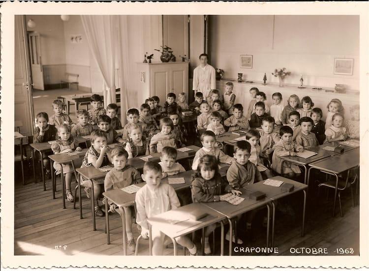 Photo de classe maternelle de 1962 ecole du centre - Lycee craponne salon ...