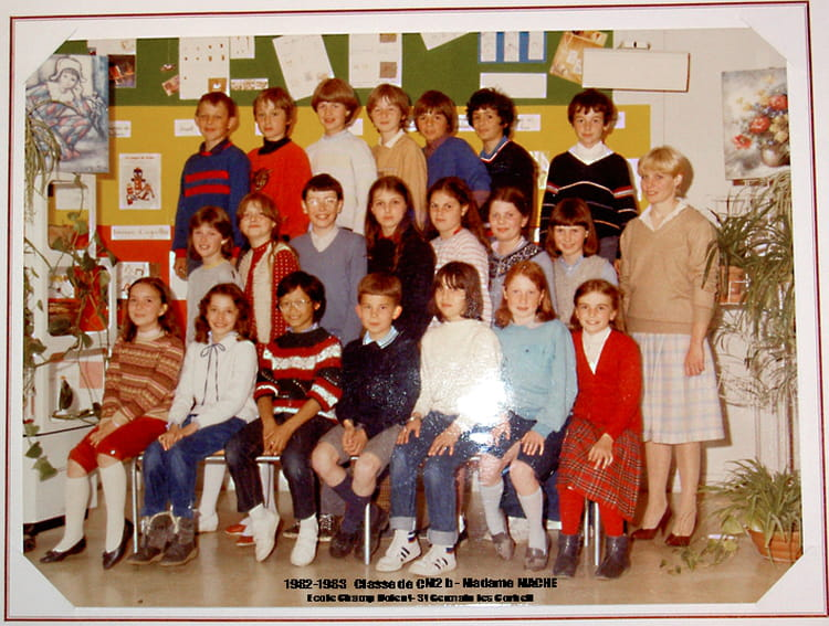 photo de classe cm2b de 1982 ecole le champ dolent saint germain les corbeil copains d 39 avant. Black Bedroom Furniture Sets. Home Design Ideas