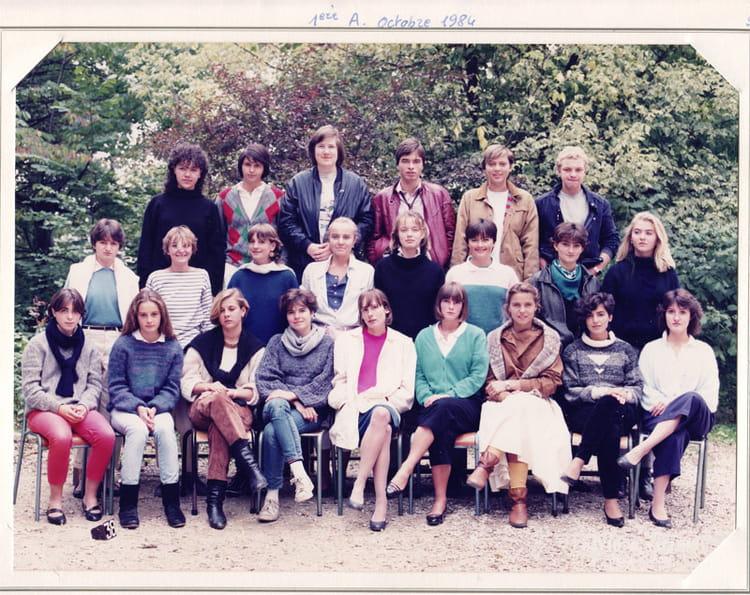 Photo de classe Première A de 1984, Itecboisfleury  ~ Itec Bois Fleury